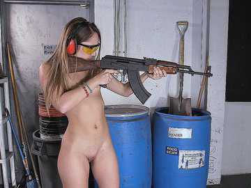 Remy LaCroix: Dirty Blonde White Girl Shoots Guns and Sucks Dick
