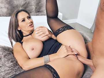 Buxom porn diva Ava Addams gets fucked and covered with sperm by her fan
