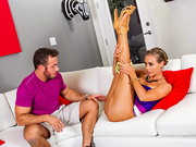 Nicole Aniston just scarred her driving instructor and he isn't willing to pass her. ...