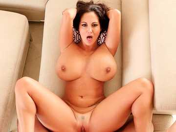 Desirable MILF Ava Addams spread in missionary pose for you in POV video