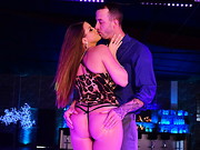 Gorgeously curvy Brooklyn was happily surprised when her man took her to her favorite club. ...