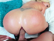 Super-buxom blonde bombshell Summer Brielle taunts horny Mick Blue with her enormous, round ...
