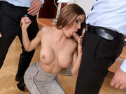 Kitana Lure takes part in threesome scene with well-hung steeds