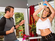 Eva is at home alone cleaning on Mother's Day when her son's friend comes over with ...
