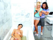 Kate England and her new boyfriend Tarzan played hooky from school to go home and get real ...