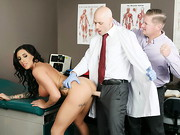 Austin Lynn has an appointment with pervy gyno Dr. Johnny Sins, and her boyfriend doesn't ...
