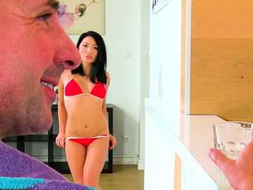 Rina Ellis seduces her mom's filthy lover while she is around