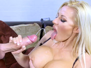 Lusty cheating wife Michelle Thorn gets fucked by the invisible man in cowgirl position