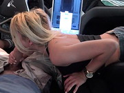 Busty, young blonde Marsha May meets director Manuel Ferrara in a parking lot, and the naughty ...