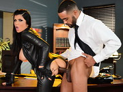 Sexy assassin Romi Rain has blown and shot her way out of two sticky situations in one night, ...