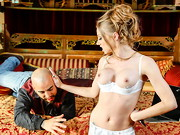 After buying a gorgeous set of lingerie that put her hot tits front-and-center, it was just too ...