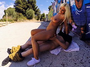 Blondie Fesser joins us for Public Bang once again!! This chick is smoking hot, she has a big ...