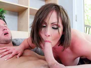 Pussy to mouth is an option for MILF Yasmin Scott fucking her son's friend